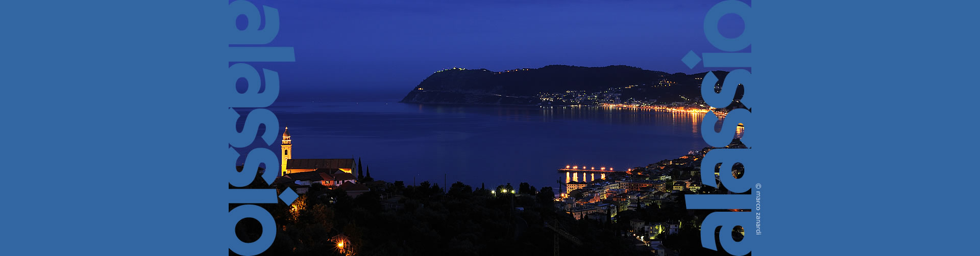 Alassio by night from Solva